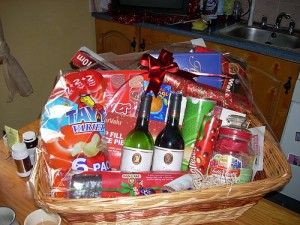 Easy Homemade Gifts in a Basket for Couples