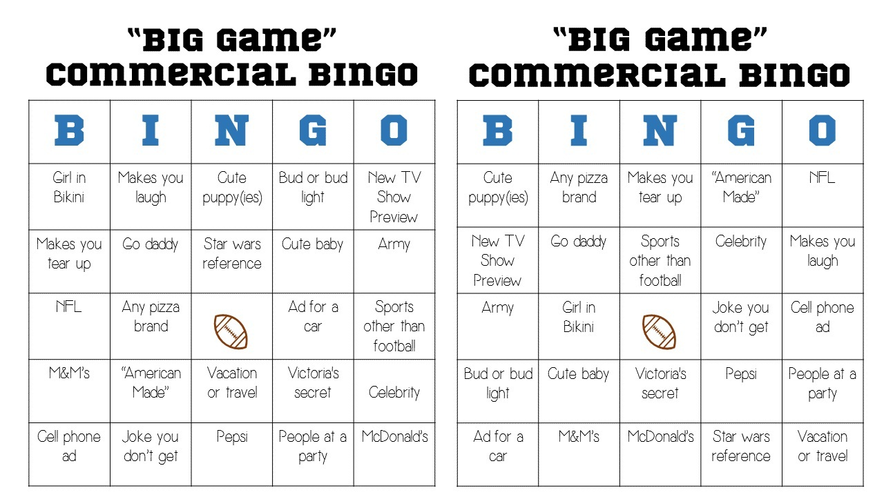 photo about Printable Super Bowl Bingo Cards named 4 Enjoyment Tremendous Bowl Celebration Online games