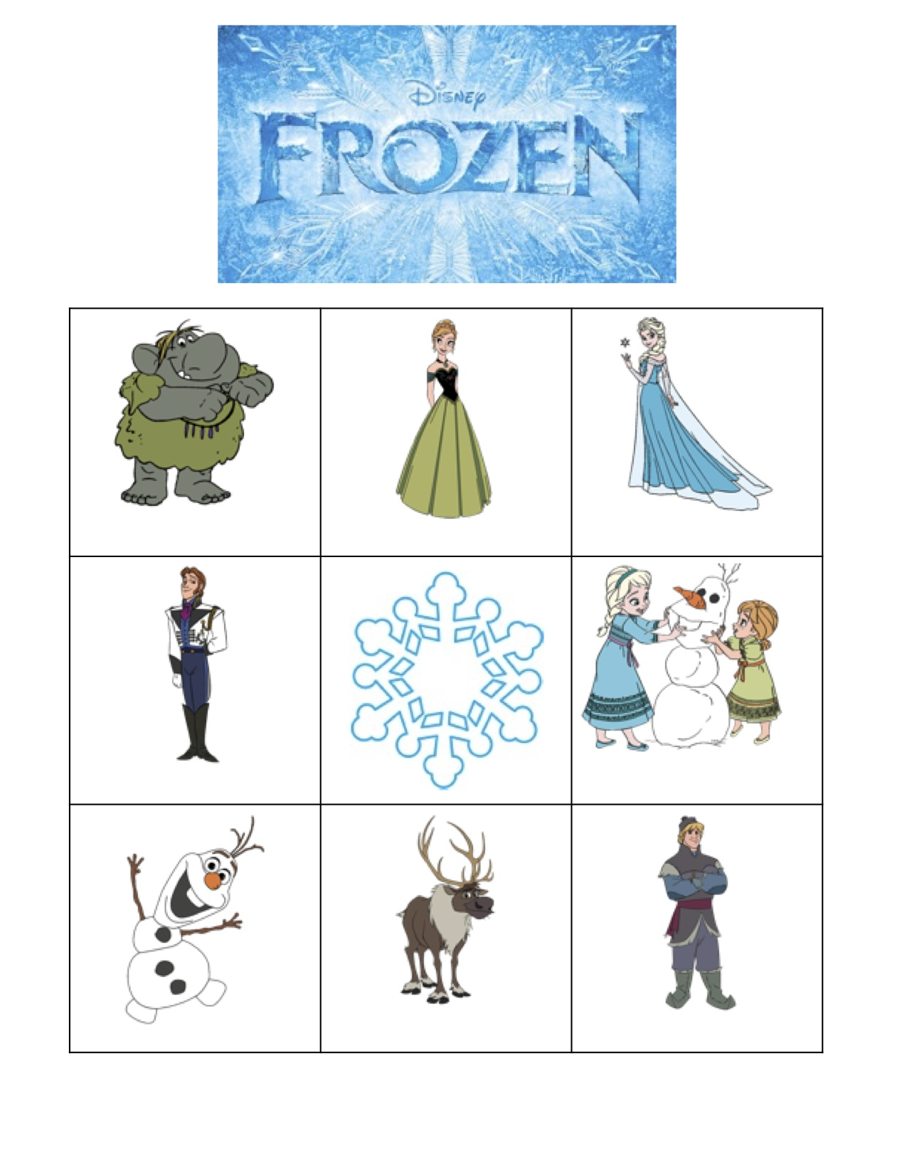 graphic relating to Disney Bingo Printable referred to as 11 Interesting Frozen Occasion Video games