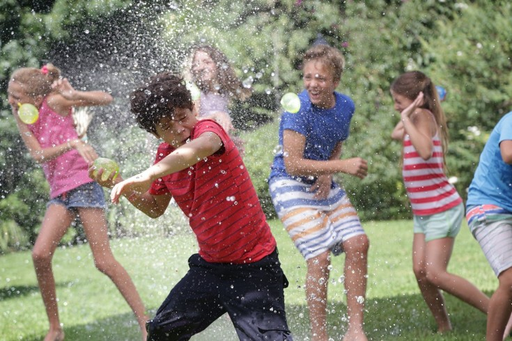 Image result for water balloons fight