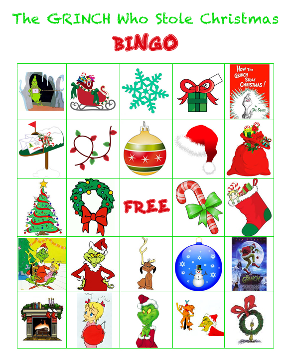 grinch themed christmas party game - Christmas Party Games For Large Groups